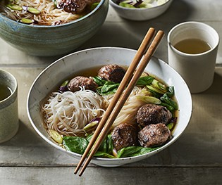 Meatball Pho: Faster than takeout